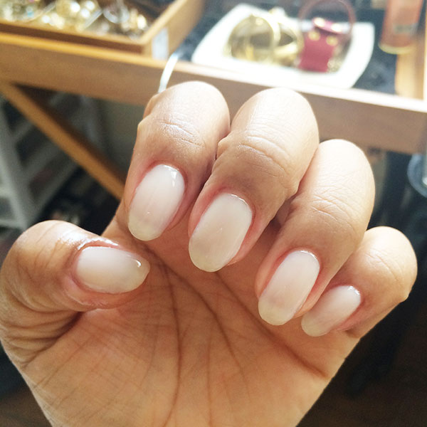 DIY gel mani, DIY shellac mani, almond nails