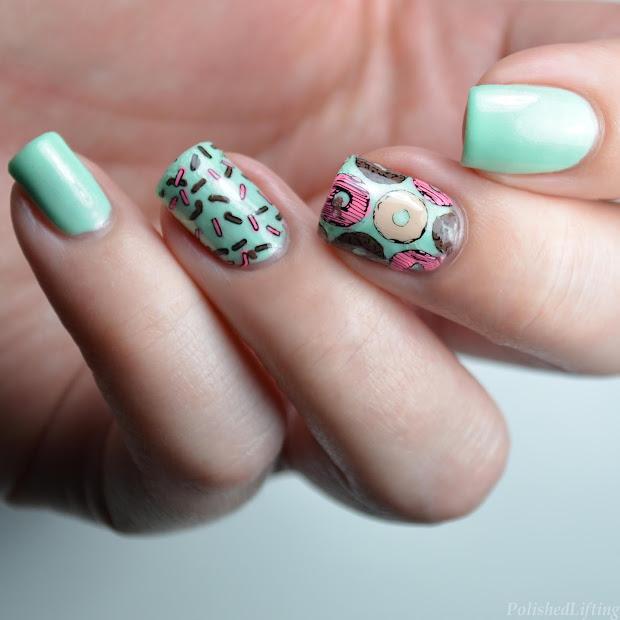 cute donuts & sprinkles nail art