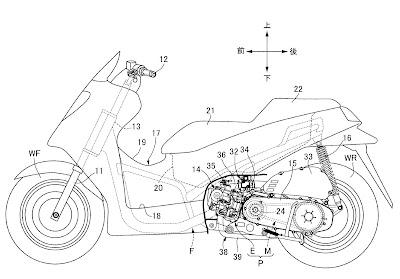 Gambar Paten VTEC untuk Skutik Honda