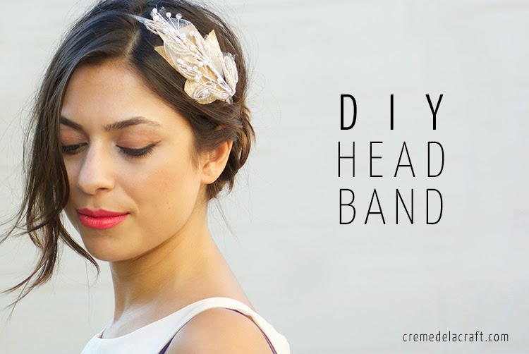 DIY  Beaded Bridal Headband 91a690bd884