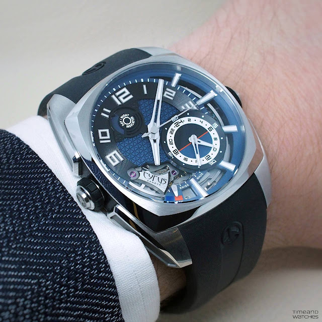 Cyrus Klepcys Alarm with Blue Dial