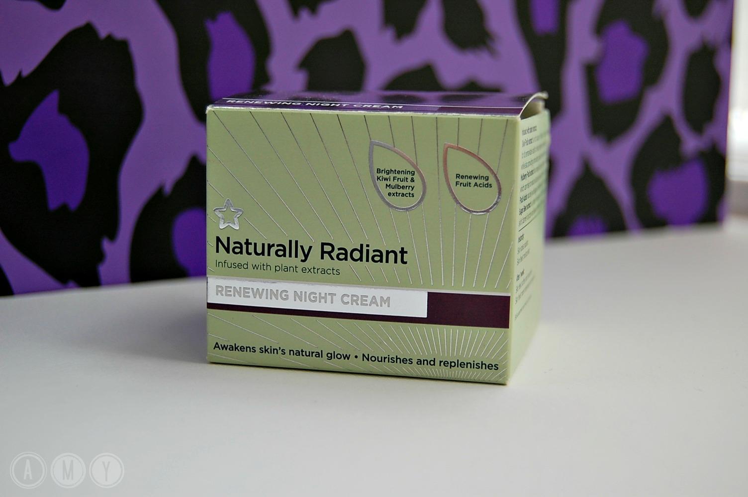 Superdrug Naturally Radiant Renewing Night Cream