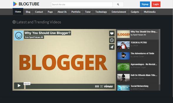 Videoblog blogger template.
