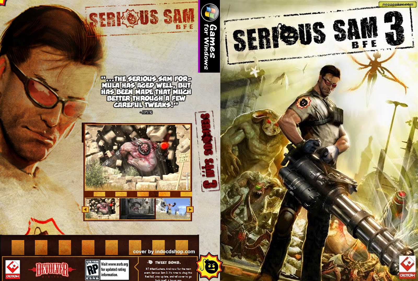Serious Sam 3 BFE Game Cover