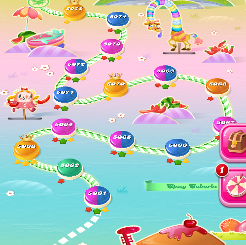 Candy Crush Saga level 5061-5075