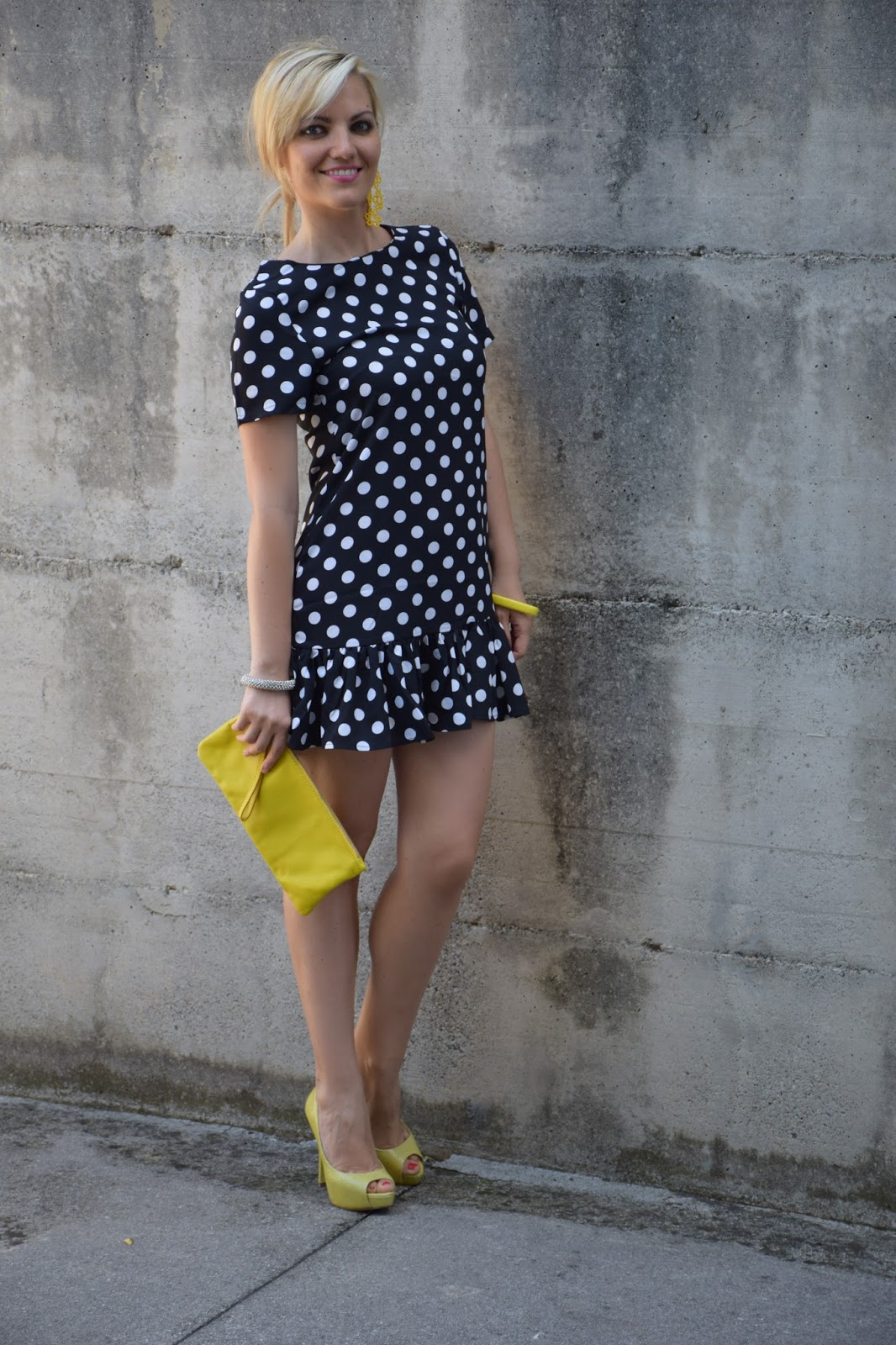 outlet store fb883 72cfc Color-Block By FelyM.: OUTFIT: POLKA DOTS DRESS - ABITO A ...