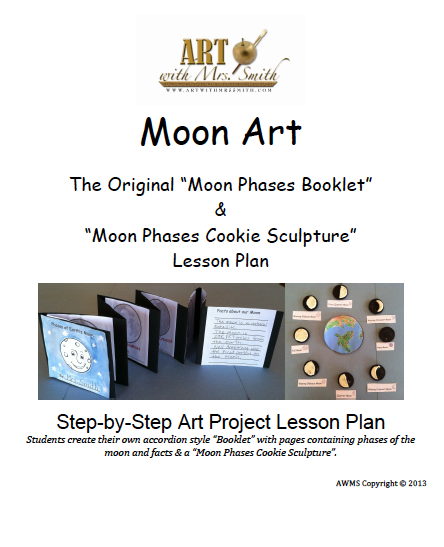 Moon Phases Art Lesson!