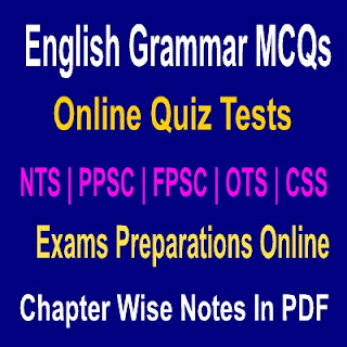 English Grammar MCQs and Quiz Test