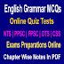 English Grammar PPSC NTS Jobs Tests MCQS