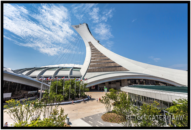 Olympic Stadium Observation Tower At Montreal