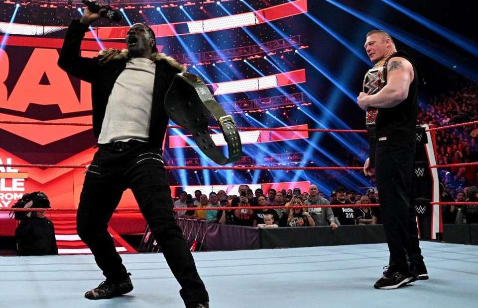 Segmento entre Brock Lesnar e R-Truth não estava no roteiro do WWE RAW