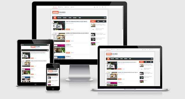 Minima Colored 2 Full Version Free Responsive Blogger Theme
