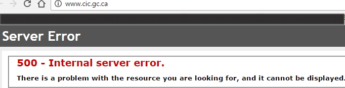 cic website crashed