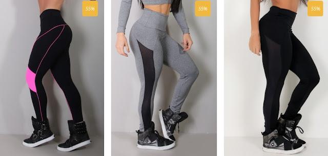 As calças fitness ganharam ainda mais cor, recorte e estampas diversificadas para que você treine com mais estilo e conforto