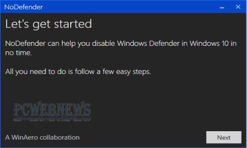 Disattivare o disinstallare Windows Defender