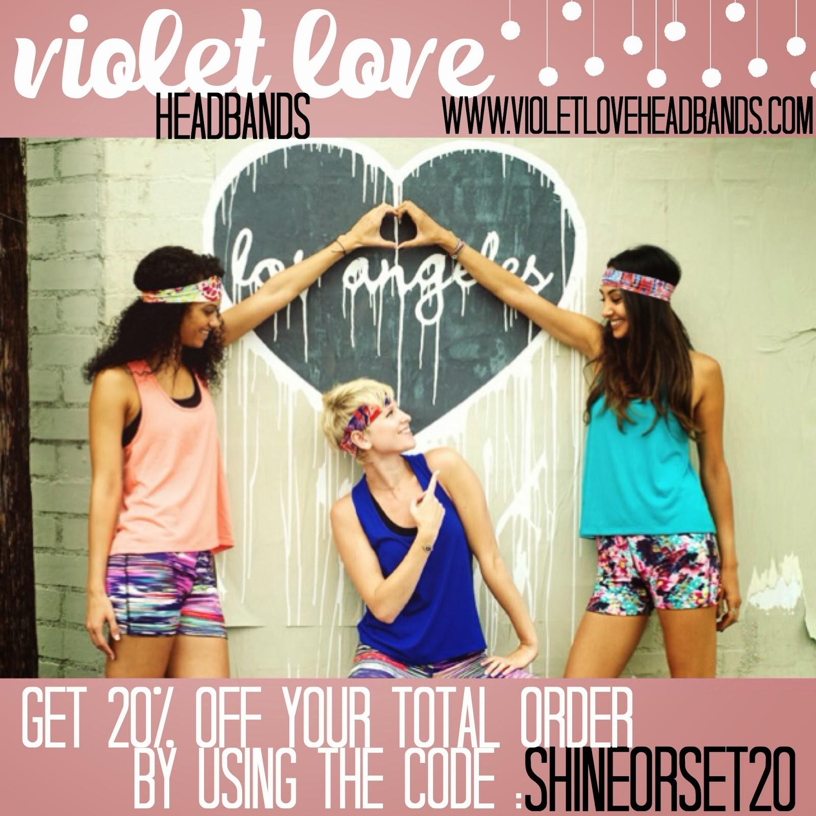 shine or set.  violet love headbands 65e7d5d9a6b