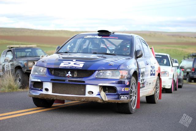 George Plsek Mitsubishi EVO Rally Car