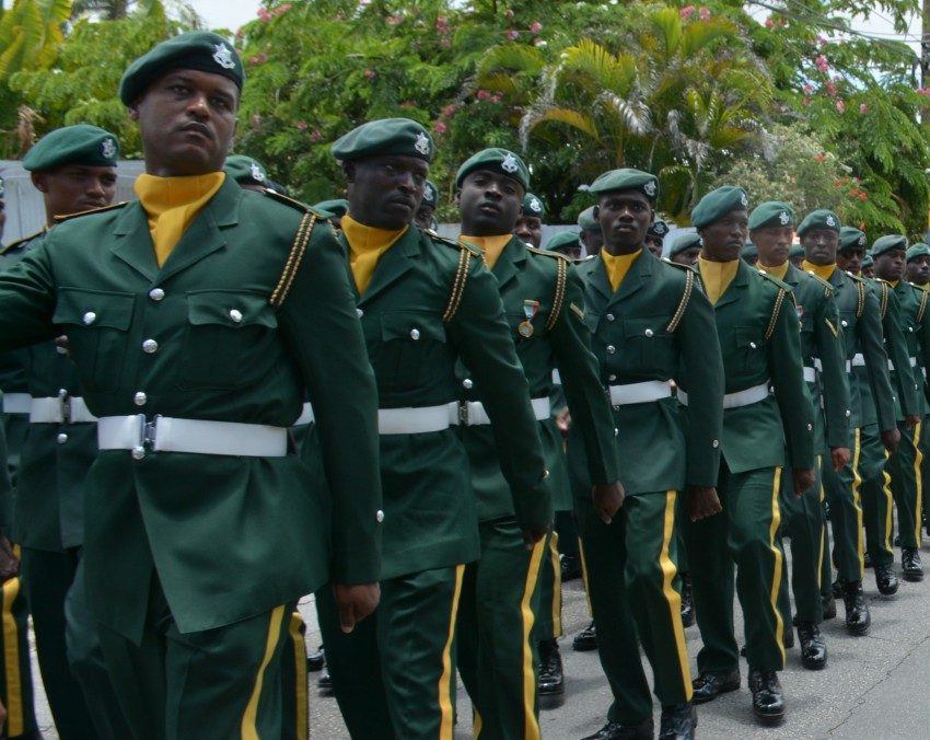 world military and police forces  barbados