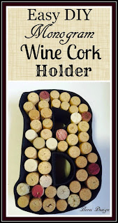 Crafts: How to make a monogram wine cork holder using recycled materials.