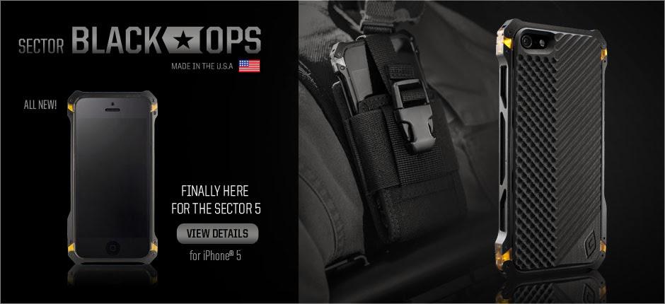 quality design 6d72f f2c38 RAJA-GADGET: Sector 5 Black Ops Element Case Iphone 5 OEM