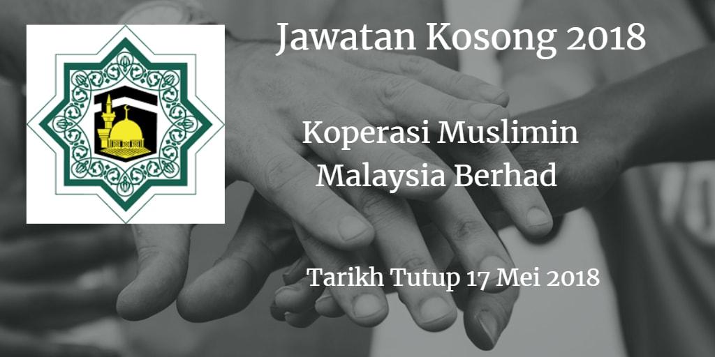 Jawatan Kosong Koperasi Muslimin Malaysia Berhad 17 Mei 2018