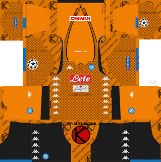 SSC Napoli 2018/19 UCL Kit - Dream League Soccer Kits