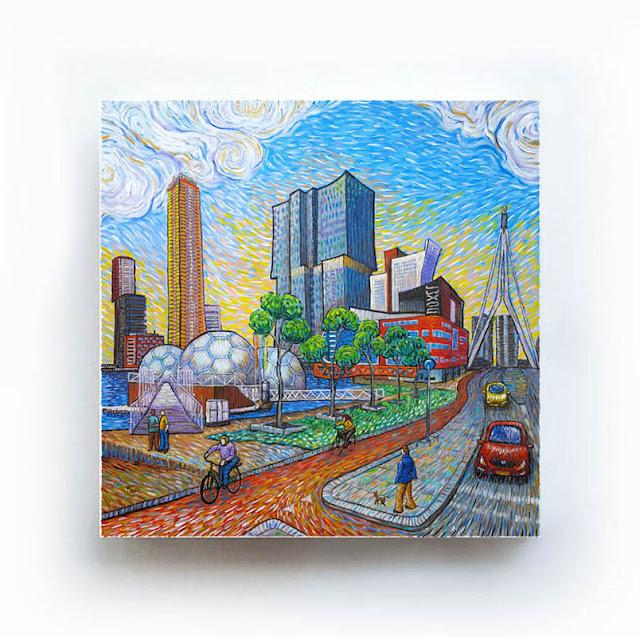 Rotterdam Drijvend Paviljoen Like Van Gogh