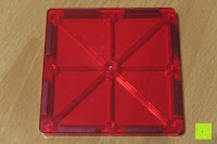 Quadrat oben unten: Playbees 100 Teile Magnetische Bausteine Set für 2D und 3D Form Konstruktionen, Regenbogenfarben Magnetspielzeug, Baukasten Magnetspiel, Magnetbausteine