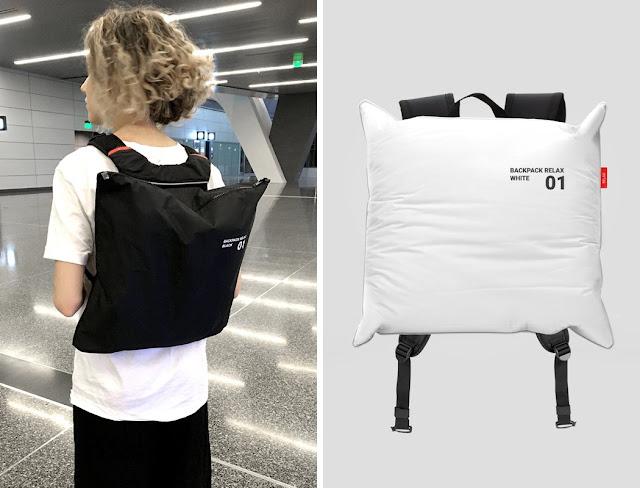 Backpack Relax, Tas Ransel Yang Dapat Berubah Menjadi Bantal