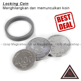 Jual alat sulap locking coin rupiah