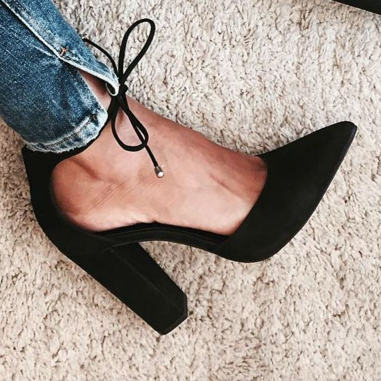 b741901069f Steve Madden Pampered Block Heels Black Closed Pointed Toe - Style ...