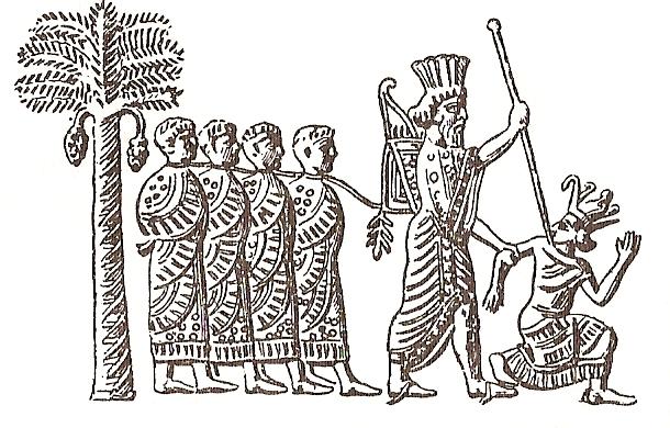 Cambyses II capturing Pharaoh Psamtik III