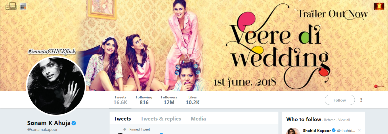 Sonam Kapoor Chang her Instagram and Twitter names after ...