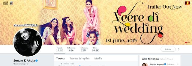 Sonam Kapoor change her Twitter Name