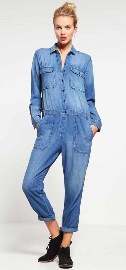 Combinaison pantalon femme en jean bleu GAP