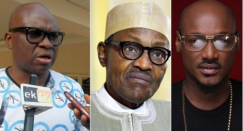 fayose join 2face idiba anti buhari rally