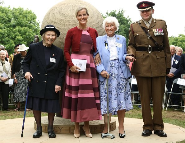 Countess Sophie of Wessex wore ROKSANDA dress. The Countess is Patron of The Nursing Memorial Appeal and Queen Alexandra's Nursing Corps