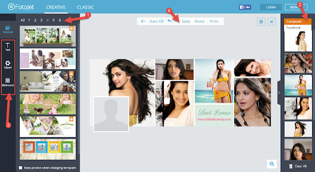 How to make online Online Free Photo Card Banaye