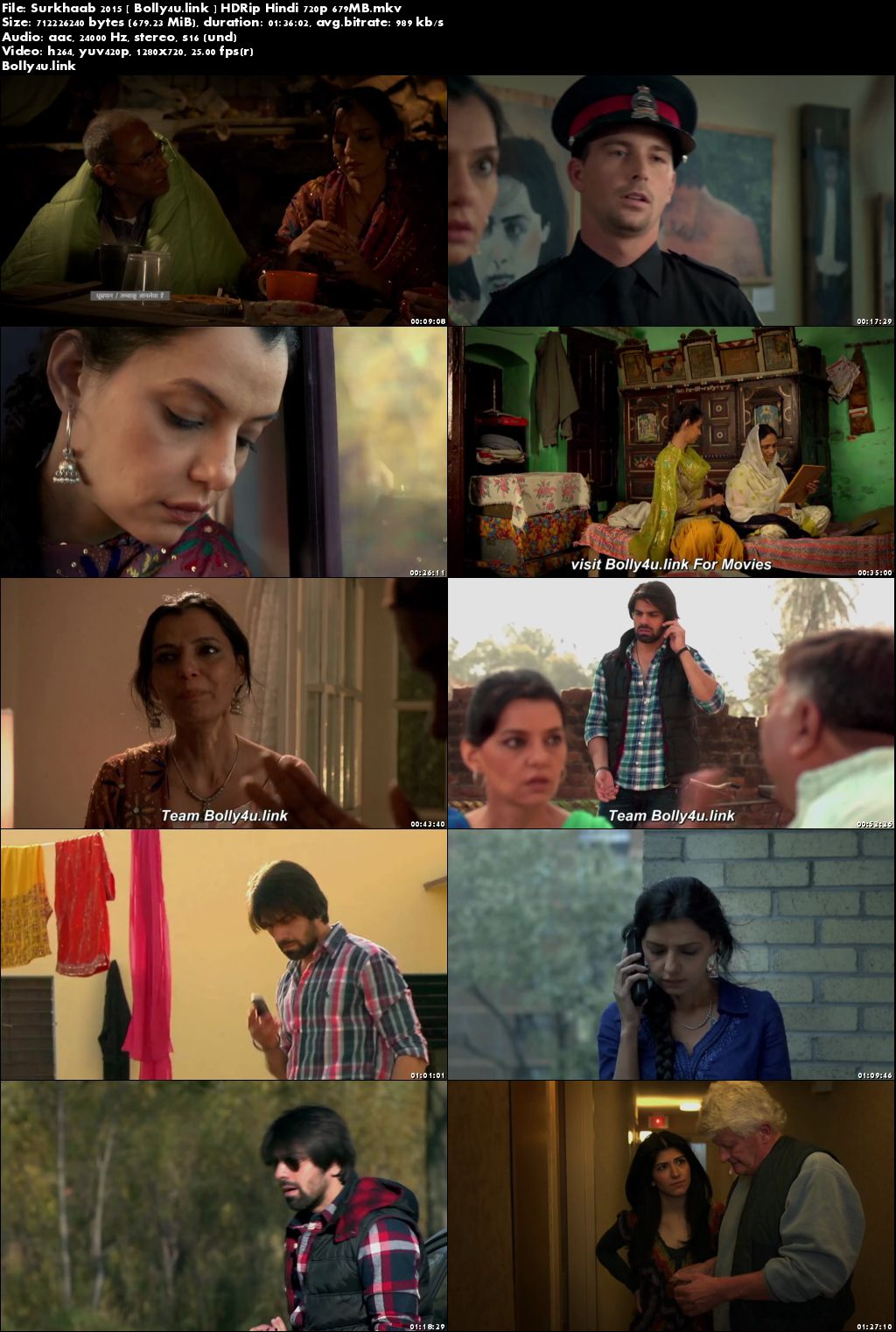 Surkhaab 2015 HDRip 650MB Full Hindi Movie Download 720p