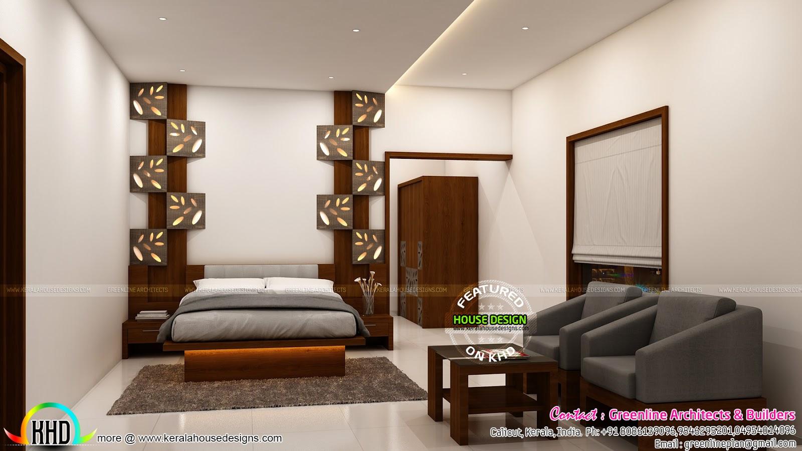 Interior designs of Master bedroom  Kerala home design