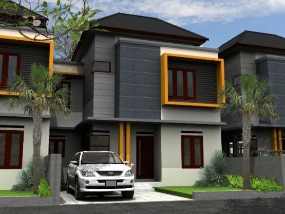 model desain teras rumah minimalis type 45