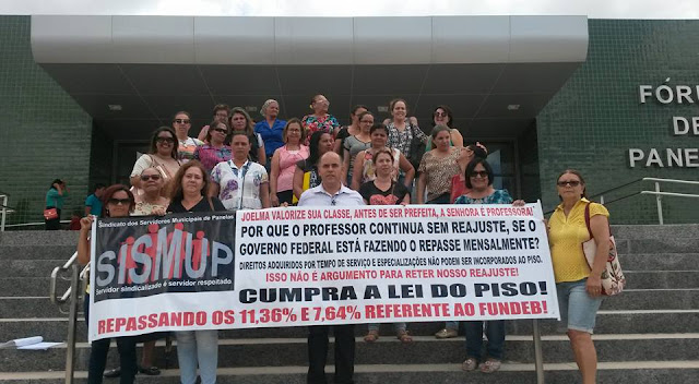 Protesto dos Professores em Panelas-PE