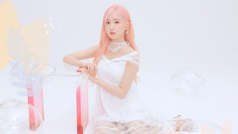 Hitomi, Pink Hair, IZ*ONE, Bloom*Iz, 4K, #6.650