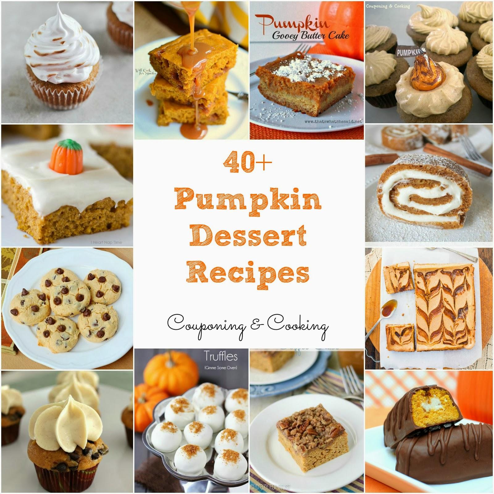 Tobins' Tastes: 40+ Pumpkin Dessert Recipes