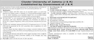 Cluster university. 😱 Cluster University Jammu (CLUJET ...