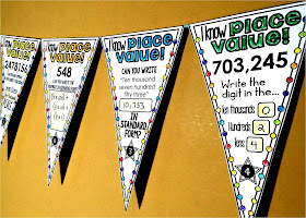 Place value math pennant