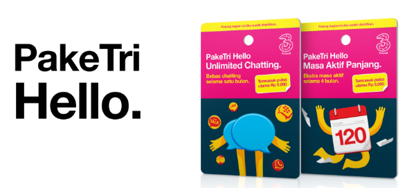 paket tri hello unlimited chatting