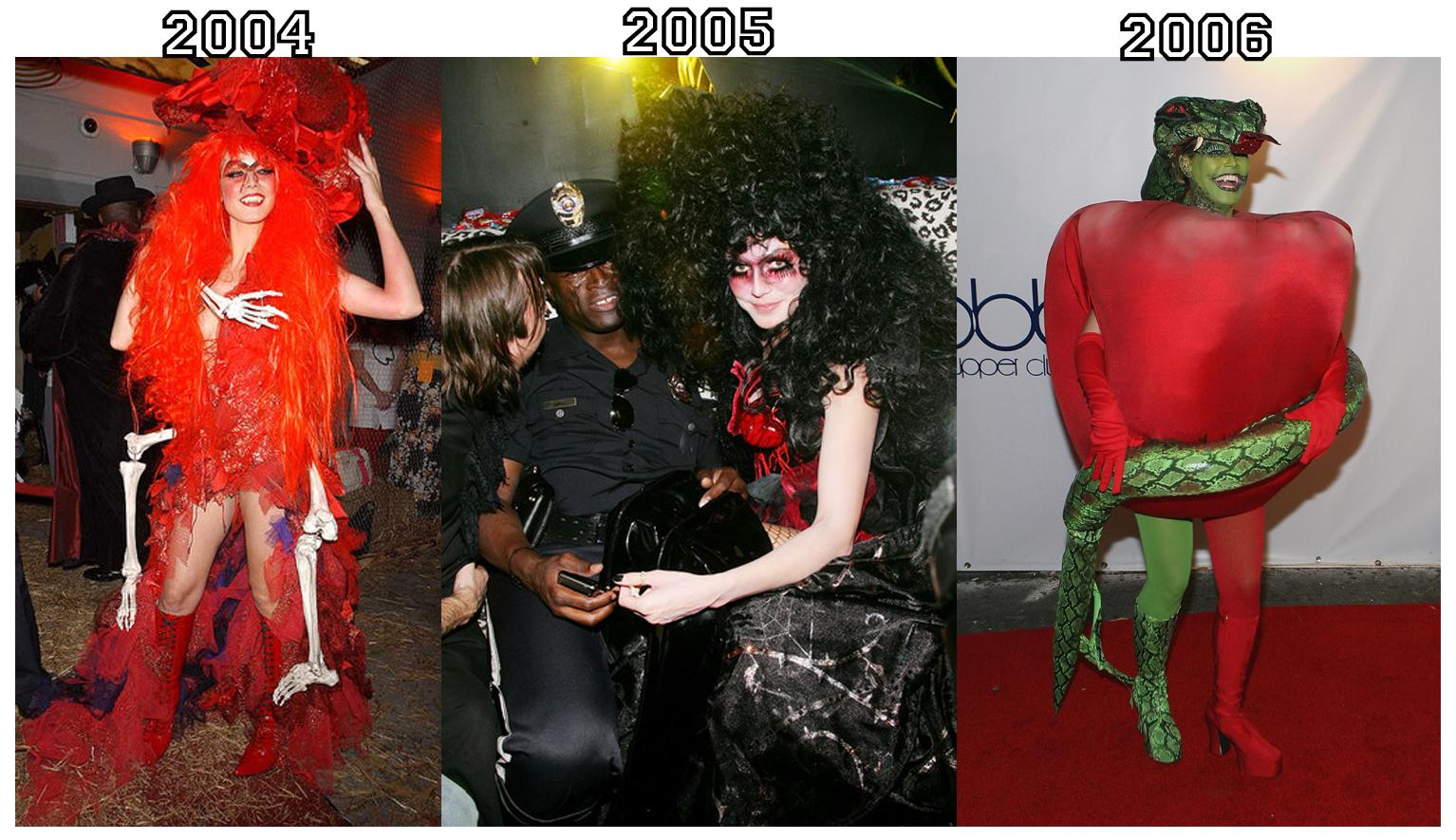heidi klum's halloween costumes 2001-2010