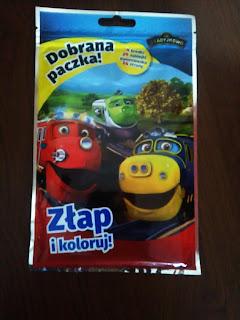 Patrol torowy do akcji zawsze gotowy- recenzja saszetki: książka z zabawką.