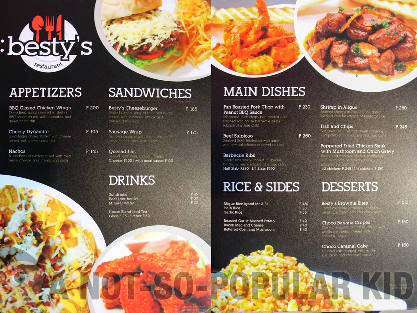 Besty's Restaurant - Menu and Prices